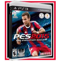 Game Pes 2015 Ps3 Futebol Português Blu-ray + Frete Grátis