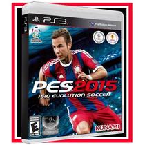 Game Pes 2015 Ps3 Futebol Português Brasil Blu-ray Original