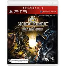 Mortal Kombat Vs Dc Universe Ps3 - Lacrado + Nf - S. G.