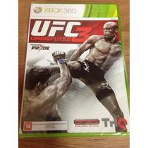 Ufc Undisputed 3 Para Xbox 360 - Novo - Original - Leg Pt-br