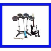 Rock Band 2 Wii Wii U Completo Bateria Guitarra Guitar Hero