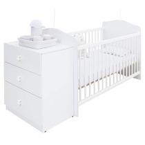 Berço Cômoda Satriani 03 Gavetas Quarto Infantil Bebê Branco