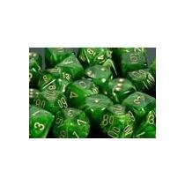 Conjunto Chessex De 7 Dados Vortex Green P/ Rpg D&d