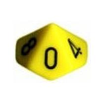 Conjunto Chessex C/ 10 Dados Lisos Amarelos De 10 Faces Rpg
