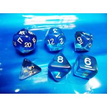 Jogo De Dados Rpg, Kit Com 6 Peças Cor Azul