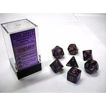 Kit De 7 Dados De Rpg ¿ Chessex - Speckled Set Hurricane