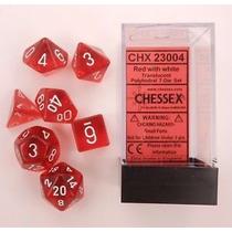 Kit De 7 Dados De Rpg E Cardgame Da Chessex - Vermelho