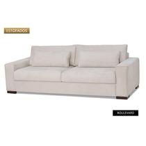 Sofa 2 Lug Boulevard Novo Tecido Ou Corino