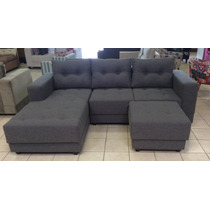 Sofa 2 Lug + Chaise + 1 Puff Novo
