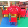 Mesa Infantil Com 4 Cadeiras Crayon