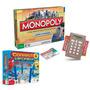 Banco Imobiliário Monopoly Eletrônico + Connect 4 Lançadores