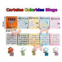 100 Cartelas Para Bingo Coloridas