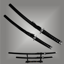 Samurai Katana, Wakizashi - Conj. 2 Espadas+suporte Cód.6705