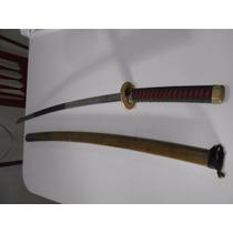 Espada Samurai Ninja Aço Com Detalhes Bainha De Madeira