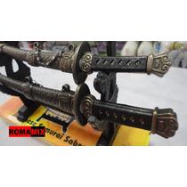 Kit Espada Katana 2 Espada + Suporte,pronta Entrega Na Caixa