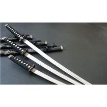 Espada Conjunto De Três Katanas Dragão+suporte Gratis
