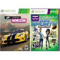 Kinect Sports 2 Season Two + Forza Horizon Xbox 360 Original