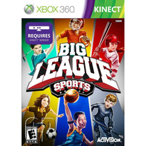Jogo Novo Big League Sports Para Kinect Xbox 360 Ntsc