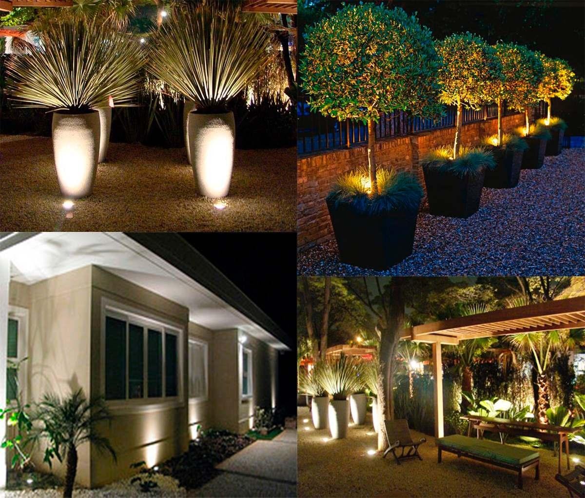 kit iluminacao jardim:Kit 10 Luminária Led Espeto De Jardim 5w De Potência Bivolt – R$ 490