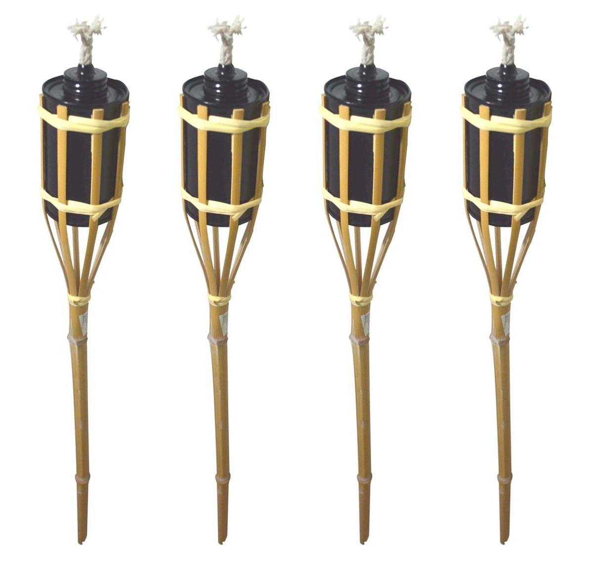 Kit 4 Lamparina Tocha De Fogo Bambu 90cm Decoração Festa R$ 26 11  #9B7C30 1200 1155