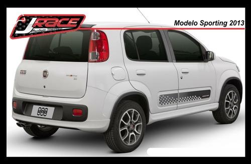 Kit Adesivo Fiat Novo Uno 2013 - Palio E Bravo Sporting