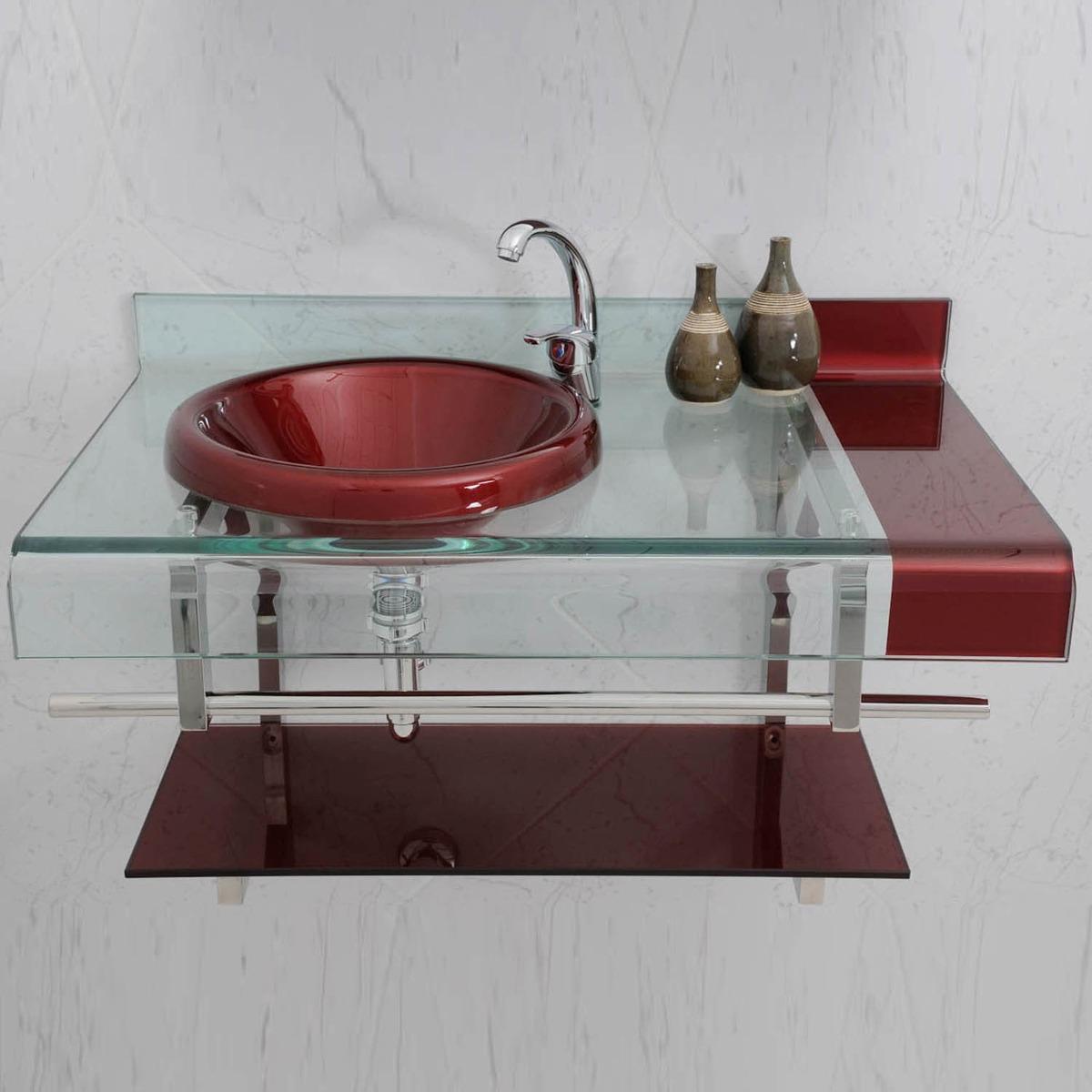 Kit Banheiro Gabinete Vidro Com Espelho Estilo Chopin 90x53 R$ 1.527  #69302F 1200 1200