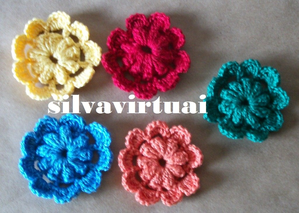 Adesivo De Alto Desempenho Para Argamassas ~ Kit C 10 Flores De Croche P Blusas Cachecol Tic Tac Bolsa R$ 34,99 no MercadoLivre