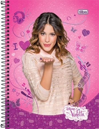 Kit C/ 4 Cadernos Da Violetta Disney Tilibra 2014 Sortido