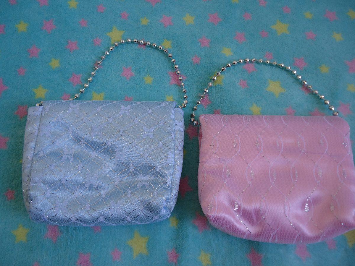 Bolsa De Tecido Com Renda : Kit de bolsas m?o infantil em tecido com renda
