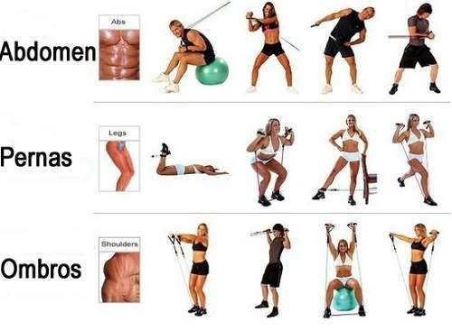 Kit Elásticos Extensores 11 Peças Exercícios,musculação ...