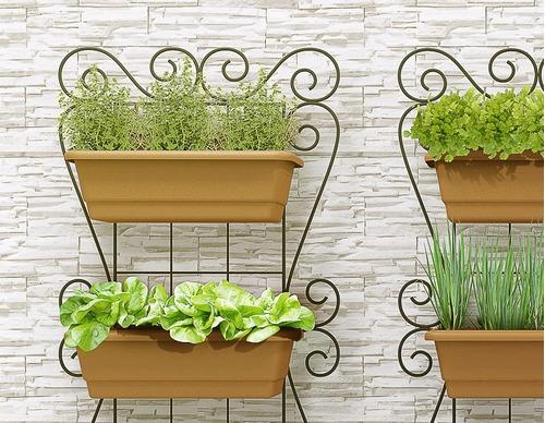 horta jardim vertical:Kit Horta Vertical Suspensa 100x50cm Horta Olilo – R$ 235,00 no