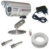 Kit Cftv 1 Câmera Infravermelho 1000 Linhas Fácil Instalação