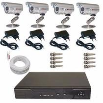 Circuito Fechado Kit 4 Câmeras Dvr Stand Alone E Acessórios