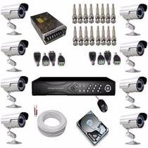 Kit Circuito Fechado Com Gravador 8 Câmeras- Frete Grátis