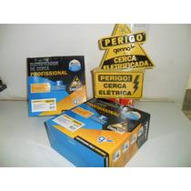 Kit Cerca Eletrica 90 Mts C/alarme+controle Remoto+discadora