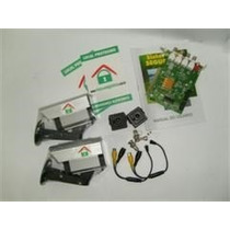 Kit Cftv 3 Câmeras + Placa Captura + 3 Caixas + Fontes