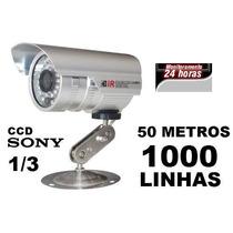 Kit 10 Câmeras Infra Ccd Sony 1/3 1000 Linhas + 10 Fontes