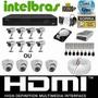 Kit Cftv Dvr Intelbras+hd+8cameras Infra 1000l/30m+fonte+cab