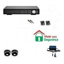 Kit Dvr Cftv Stand Alone Luxvision +2 Câmeras+cxs+fonte+cabo