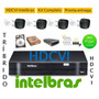 Kit Intelbras 4 Cam Hdcvi Dvr 4ch Hdvci Tribrido Hd 1 Tera