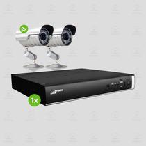 Kit Segurança Dvr Stand Alone Luxvision 4 Canais 2 Câmera