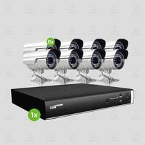 Kit Segurança Dvr Stand Alone Luxvision 16 Canais 8 Câmera