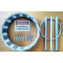 Kit Concertinas Protetor Perimetral 450mm Proteção 10m