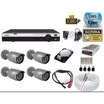 Kit Cftv 4 Cameras Hdcvi 720p Dvr 4 Canais Intelbras 3004 Hd