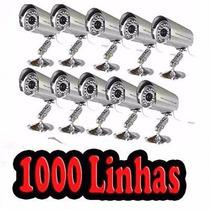 Kit 10 Cameras Ccd Infra 1000 Linhas + Fonte + Conector Bnc