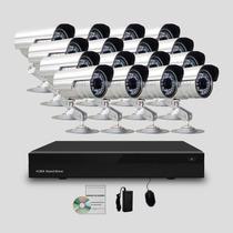 Kit Segurança Cftv Dvr Stand Alone 32canais 16 Câmeras Infra