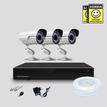 Kit Segurança Dvr Stand Alone 4 Canais E 3 Câmera Infra Sony