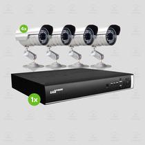 Kit Segurança Dvr Stand Alone Luxvision 8 Canais 4 Câmera