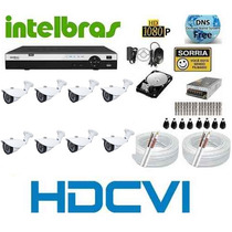 Kit Intelbras 8 Cameras Hdcvi 720p Infra Dvr 8 Canais Hdcvi