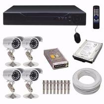 Kit Cftv Dvr 8 Canais Hdmi + 4 Câmera Infra Ccd Sony Hd 1tb